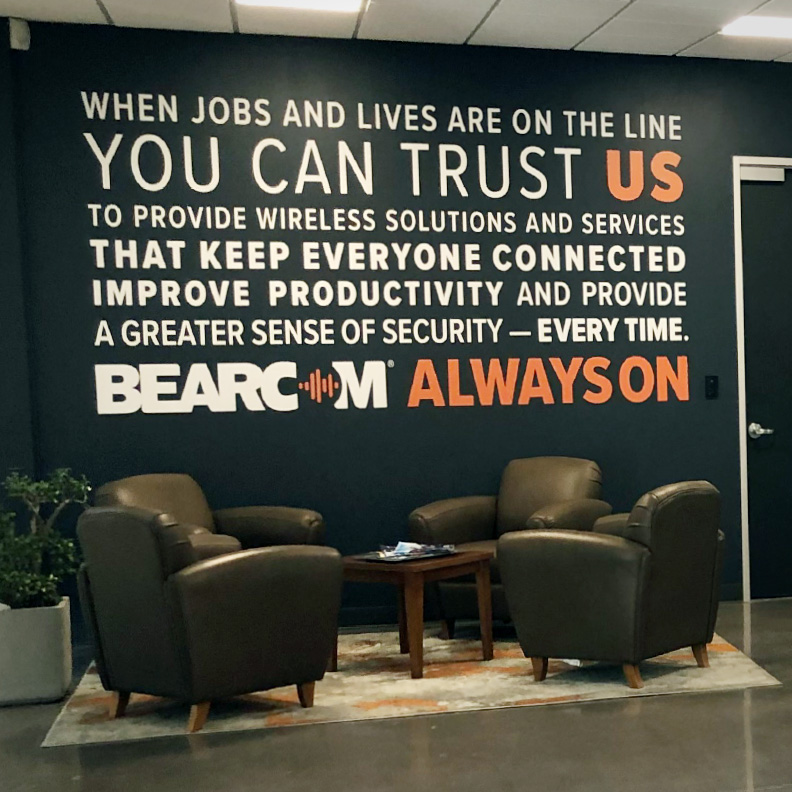 BearCom Wall Graphic