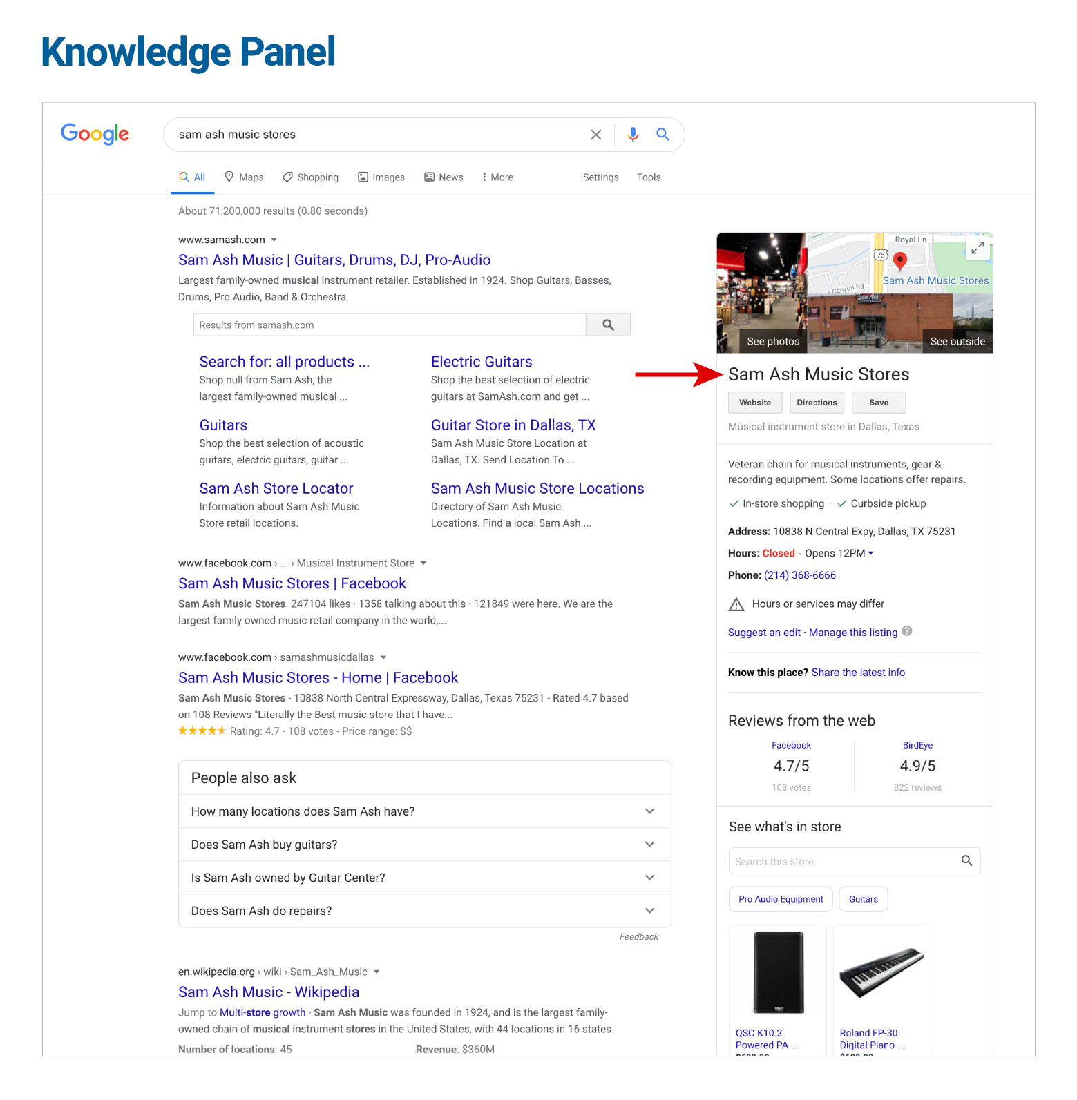 Knowledge Panel