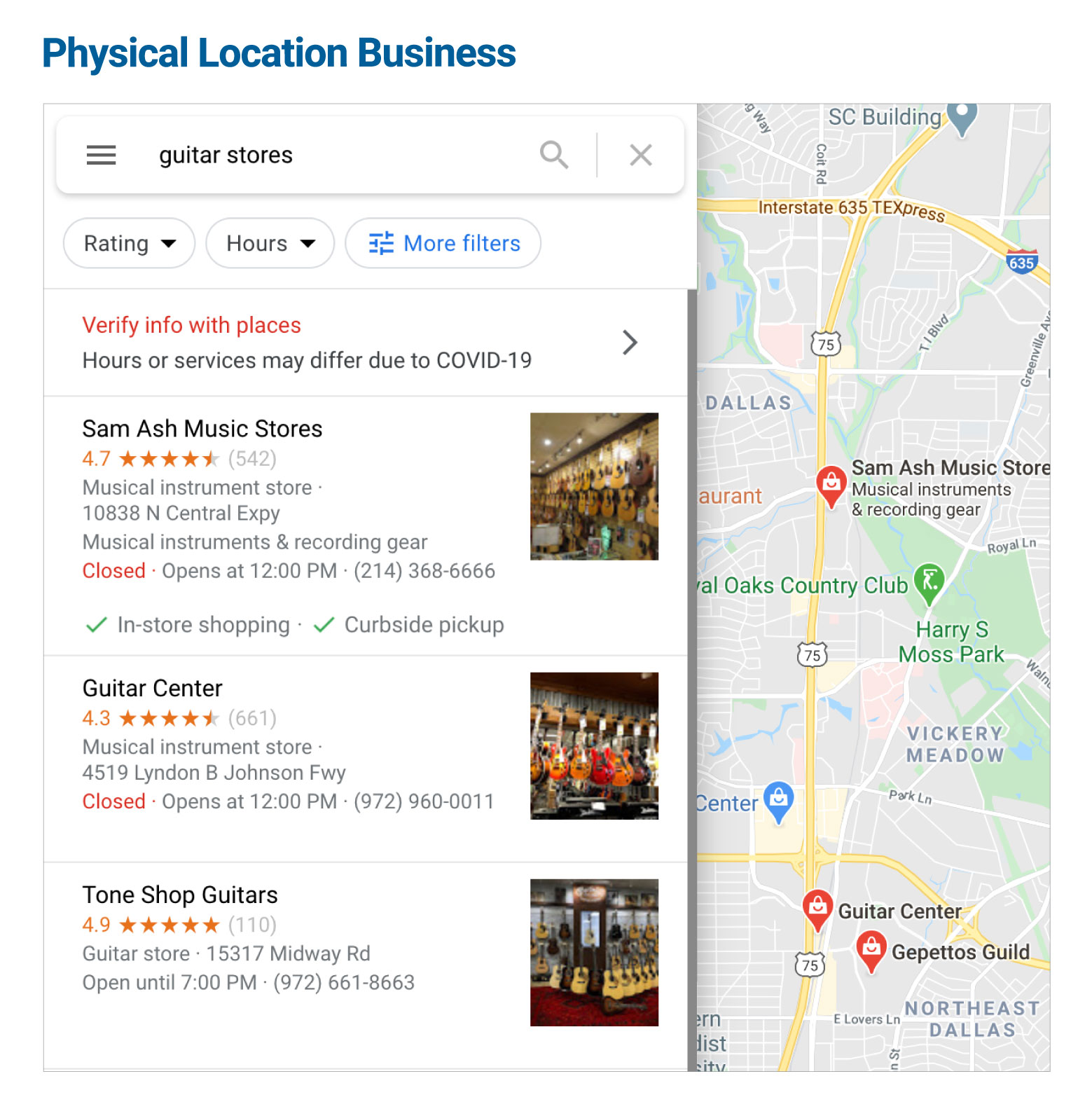 Physical Location Business